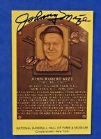 JOHNNY MIZE SIGNED 4X6 HOF POSTCARD ~ NY YANKEES BASEBALL AUTOGRAPH