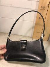 La Philipe Black Leather Handbag Hand Bag Purse