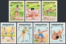 CAMBODGE Kampuchea N°442/448** JO 1984, CAMBODIA Sc#488-494 Olympic games MNH