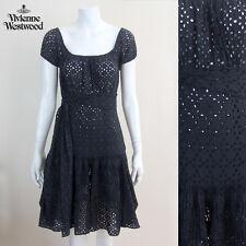 VIVIENNE WESTWOOD robe noire avec ceinture à nouer Taille 40 UK 8