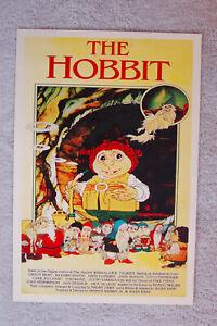 The Hobbit Cartoon Lobby Card Movie Poster 70s