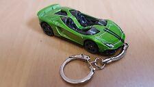 Diecast Lamborghini Avantedor J Green Toy Car Keyring Keychain