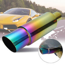 Stainless Steel Racing Car Exhaust Muffler Rear Tail Pipe Tip End Trim Straight