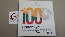 2018 LITUANIA 9 monete 5,88 euro fdc bu Lituanie Lithuania Litauen Lietuva Литва