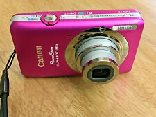 PINK CANON PowerShot ELPH 100 HS 12.1MP DIGITAL CAMERA W/BOX BATTERY CHARGER ETC