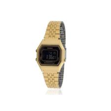 Casio Vintage LA-680WGA-1BDF Gold Plated Watch for Women