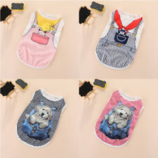 New Cartoon Small Dog Vest Puppy Clothes Breathable Thin Vest Pet Cat Apparel