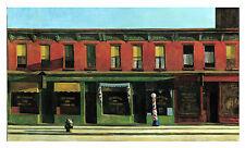 Enorme 20X40 pulgadas Edward Hopper temprano la mañana del domingo Impresión de lona de reproducción