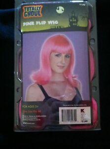 Pink Flip Wig- NEW In Box- Halloween Cosplay Fantasy Costume