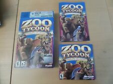 ZOO TYCOON Complete Collection + Manual & Box Dinosaur Digs & Marine Mania PCCD