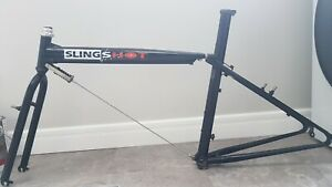 Slingshot Retro ultra rare mtb frame bmx old school farmboy dog bone fiberglass