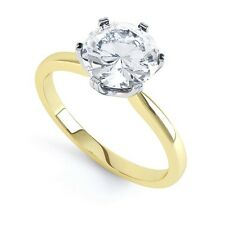 18 Ct Redondo Brillante Corte Diamante Anillo Solitario - Tradicional 6 Engaste