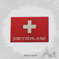 Switzerland National Country Flag Patch Iron On Patch Sew On Embroidered Patch