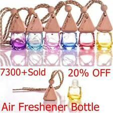 Wooden Stopper Glass Bottle Hanging Perfume Diffuser Freshen bottle Car Air N2F0