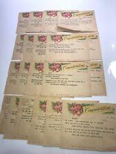 Vintage 1958 Western Union Telegram Congratulations Lot of 20 Bernaard Sheldon