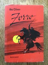 Vintage 1961 Walt Disney Zorro Book Printed in German - Bluchert Verlag Hamburg