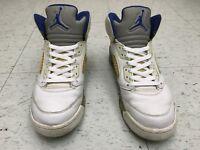 Nike Air Jordan Retro 5 V Stealth 2006 OG US Mens Size 9.5 136027-142