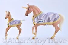 Breyer Unicorn 711999 Glitter and Gem - Classic Model Horse Mare + Foal Blankets