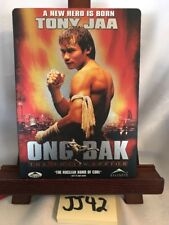 Ong-Bak: The Thai Warrior STEEL BOOK DVD! Vgc! FREE SHIPPING! JJ42