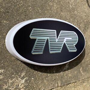 TVR LED WALL LIGHT UP GARAGE SIGN PETROL GASOLINE CAR AUTO LOGO CHIMAERA TUSCAN