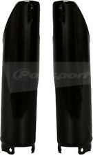 HONDA CR125 CR250 CRF250X CRF450X CRF250R,CRF450R BLACK FORK GUARDS COVERS 04-14