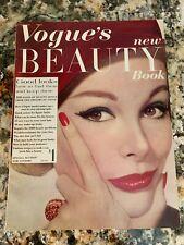 Irving Penn Cecil Beaton Leombruno Bodi VOGUE'S BEAUTY BOOK Magazine 1959-60 VTG