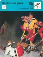 FICHE CARD: Défense de Füssen RFA Matériel Hockey sur glace ICE HOCKEY 1970s