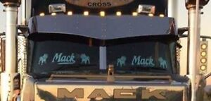 """Stainless Steel 14"""" Drop Sun Visor to suit New Breed Mack Truck"""