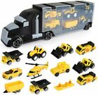 Engineering Construction Truck Transport Car Carrier Learning Toys For Kids Boys