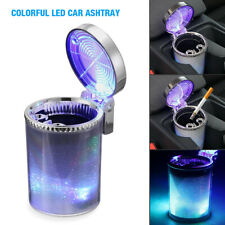 Portable Smokeless Car Ashtray Container Cup Holder Led Indicator Light Ashtray