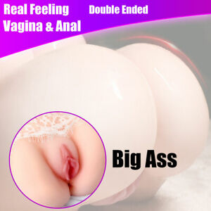 2 in 1 Vagina Anal Ass Pussy Men Male Masturbator Love Doll Sex Toy Big Butt
