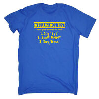 Funny Novelty T-Shirt Mens tee TShirt - Intelligence Test