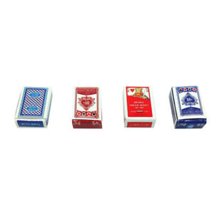 Paper Poker Games Playing Cards 1/12  Dollhouse Accessories Toy