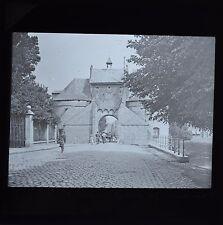 Magic Lantern Slide Photo Belgium Bruges Smedenport City Gate West Newton & Co