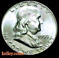 1955 50C Franklin Silver Half Dollar BU