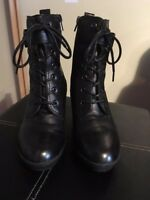Footglove black leather ankle boot size 5