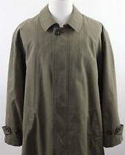 Lauren Ralph Lauren Microfiber Trench Coat MENS 44R Removable Wool Liner Green