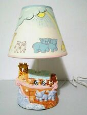 Noah's Menagerie Ark By Russ Ceramic Lamp With Shade Baby Nursery 17870 Works
