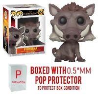 "Funko Pop Disney: The Lion King (Live Action): Pumbaa #550 w/0.5mm Case ""MINT"""
