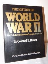 THE HISTORY OF WORLD WAR II Full Story Lt. Colonel E. Bauer HC/DJ 1984 Huge Book