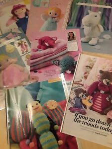 Job lot of cute    craft knitting patterns only
