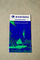 Eastern Airlines City Timetable - Philadelphia - March 15, 1967