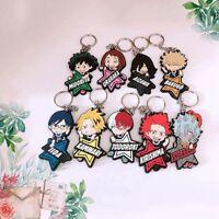 Anime My Hero Academia Boku No Hero Academia Keyring PVC Single Side Keychain