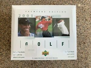 2001 Upper Deck Golf Cards Premiere Factory Sealed Box Tiger Woods Rookie