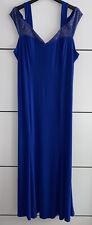 Festliches sexy langes Abendkleid Kleid Gr.48-50 XL Strass NEU