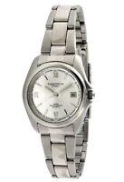 Women's Analog Wrist Bracelet Watch w/ Steel Silver Dial By TimeTech