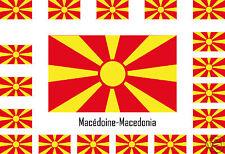 Assortiment lot de 25 autocollants Vinyle stickers drapeau Macédoine-Macedonia