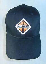 International Truck Hat Baseball Cap Black Embroidered Adult Snap Back