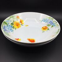 "2 Vtg Imperial China Japan W Dalton Just Spring Floral 9"" Vegetable Bowl L5011"