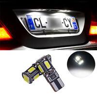 2 ampoules à LED éclairage feux de plaque  w5w / T10  Blanc anti erreur
